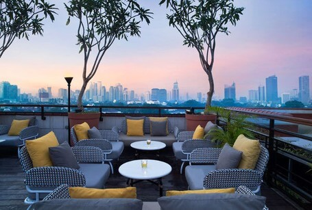 Cafe Rooftop Di Jakarta La Vue The Hermitage