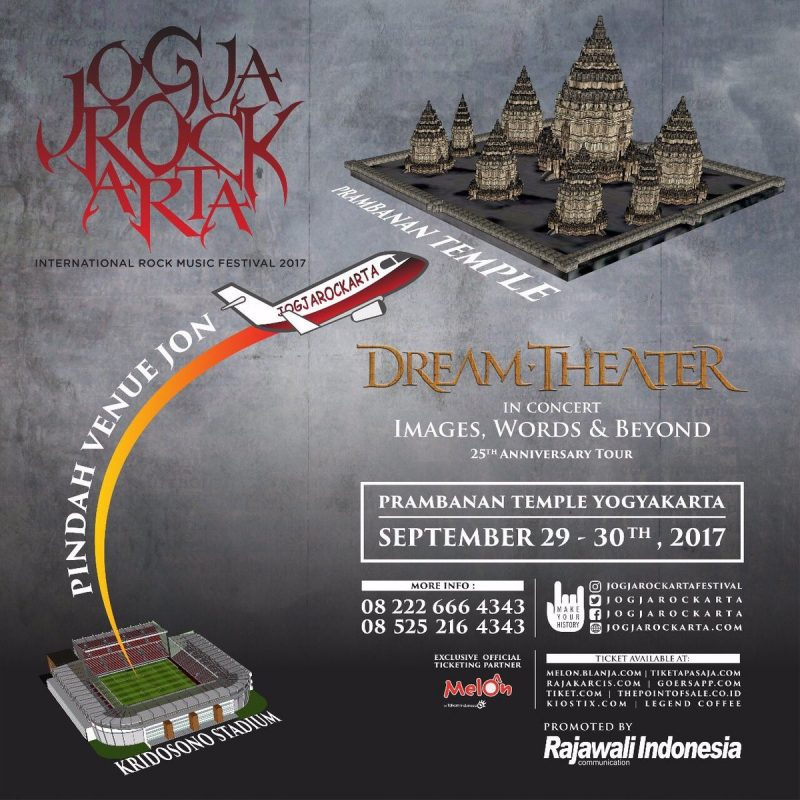 Tiket Konser Dream Theater JOGJAROCKARTA 2017